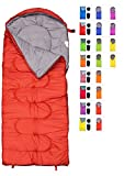 sleeping bag - RevalCamp Sleeping Bag for Cold Weather - 4 Season Envelope Shape Bags by Great for Kids, Teens & Adults. Warm and lightweight - perfect for hiking, backpacking & camping. Color Red-LeftZip
