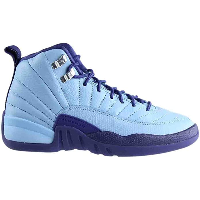huge discount f6e70 94085 Amazon.com   Nike Girls Air Jordan 12 Retro GG Purple Dust Blue Cap Silver  Size 5Y   Sneakers