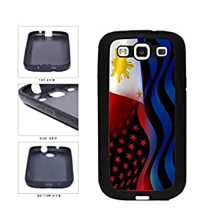 Philippines and USA Mixed Flag TPU RUBBER SILICONE Phone Case Back Cover Samsung Galaxy S3 I9300