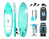 """iRocker Inflatable All-Around Stand Up Paddle Board 10' Long 32"""" Wide 6"""" Thick"""