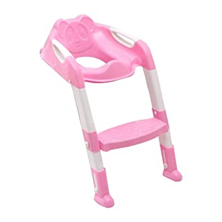Foldable Children Potty Seat With Ladder Cover PP Toilet Adjustable Chair Pee Training Urinal Seating Potties for Boys Girls Crispsound