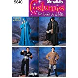 Simplicity Sewing Pattern 5840 Misses, Men and Teen Costumes, A (X-Small - Small - Medium - Large - X-Large)