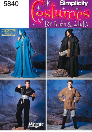 Luke Skywalker Costume Pattern (Simplicity Sewing Pattern 5840 Misses, Men and Teen Costumes, A (XS-S-M-LXL))