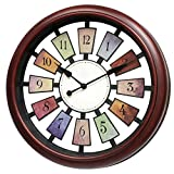 May Gifts 16 Inch Unique Decorative Wall Clock for Living Room, Large - Silent & Non-Ticking