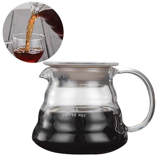 Keyobesa - Cafetera cómoda con asa, 800 ml/600 ml/360 ml, Gran ...