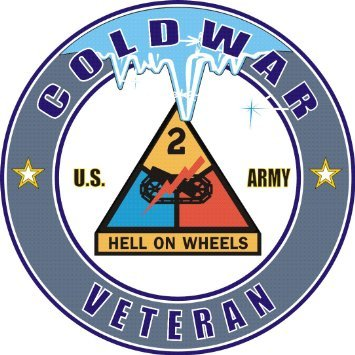Vinyl USA United States Army 2nd Armored Division Cold War Veteran Decal Sticker 3.8