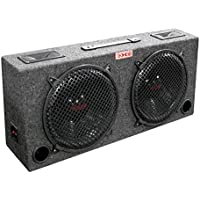 NEW xXx KIC80 2) 8 Car Audio Subwoofers Subs + Box Enclosure + 5 Tweeters