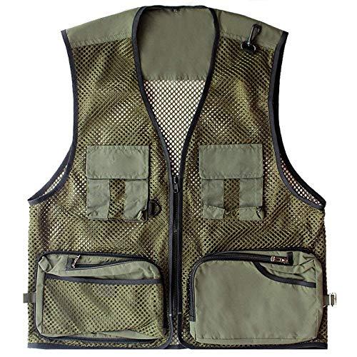 Armygreen En Pêche Vêtements Veste Air Été Hommes Saoye Loose Photographie Paragraphe Sans Plein Pocket Mode Maille Manches xPqHa1