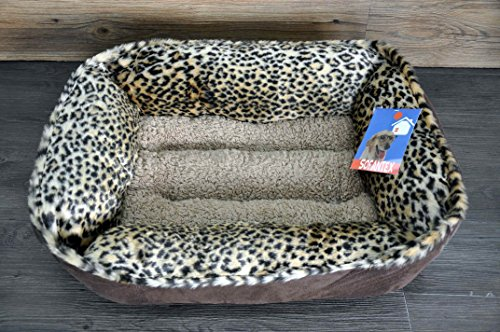 Sofantex Plush Pet Bed (Leopard 02, 25'') (Bed Leopard Cat)