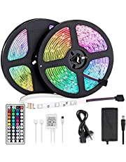 LED Light Strip 10m, LED Strip 32.8ft 300LEDs 5050SMD RGB LED Strip Lights with Remote Control and Power Supply for Bedroom, Kitchen, Cabinet