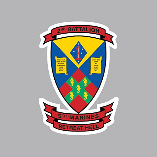 2nd Battalion 5th Marine Regiment USMC Outline Sticker FA Graphix Vinyl Decal 2nd Battalion 5th Marines