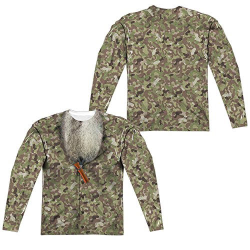 Duck Dynasty Camo Costume Unisex Adult Long-Sleeve Sublimated T Shirt for Men and Women