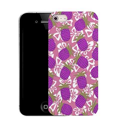 Mobile Case Mate IPhone 5S clip on Silicone Coque couverture case cover Pare-chocs + STYLET - CLUSTER PINEAPPLE pattern (SILICON)