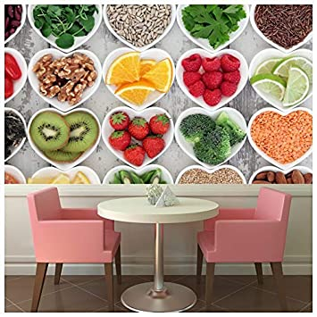 Azutura Fruit Vegetable Heart Wall Mural Food Photo