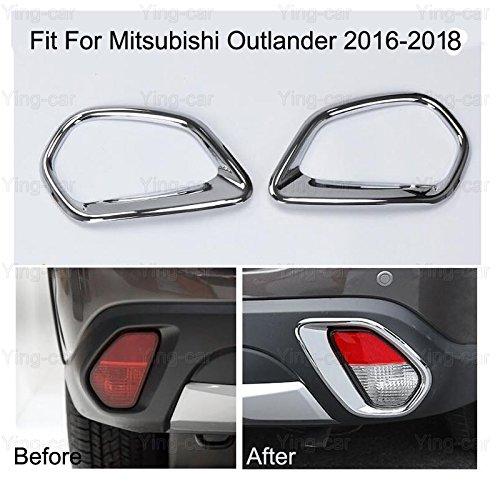 2Pcs Chrome Rear Fog Light Lamp Frame Cover Trim Strip For Mitsubishi Outlander 2016-2017-2018 Yingchiyin Auto Parts Co. Ltd