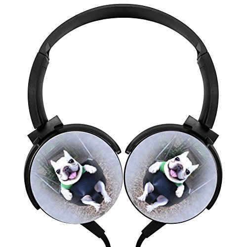 (Hidui Heavy Bass Headphone Happy Bulldog Surround Sound High Fidelity Stereo Rotation Axis Design Portable Wired Headset For Adult'S Or Child'S)