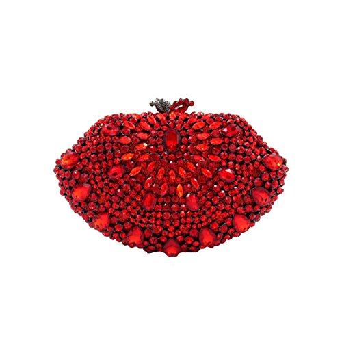 De Soirée De De Red Mariée Sac Femmes De Sac De à Luxe De Main Diamant Sac Cristal S6HqS