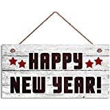 amazon com oulii happy new year hanging sign door hanger plaques