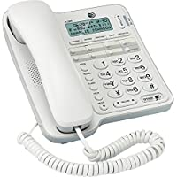 CL2909 AT&T Standard Phone - White - Corded - 1 x Phone Line - Speakerphone - Caller ID