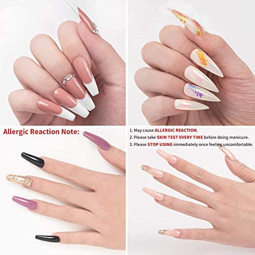 Beetles Poly Extension Gel Kit for Builder Gel Nail Gel Nail Art Design Nail Extension Gel Nail Salon All-in-One French Kit Easy DIY at Home