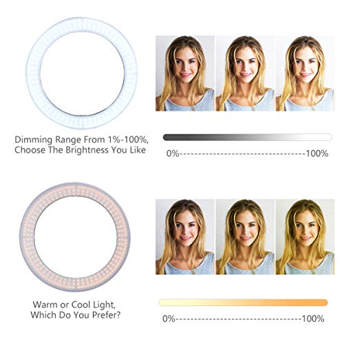 ZOMEi 18'' Dimmable LED Ring Light for Makeup Selfie Photographic Ring Light by ZOMEi (Image #1)