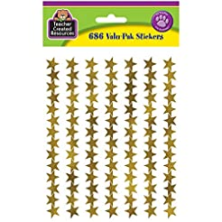 Teacher Created Resources Gold Foil Star...