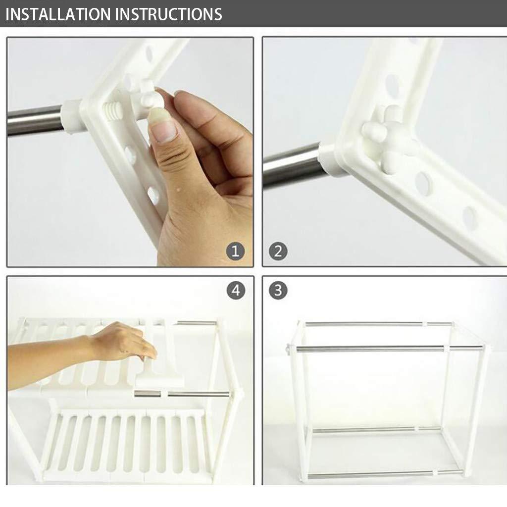 AIUSD Stainless Steel Rack Bathroom Kitchen Microwave Oven Storage Holder Shelf