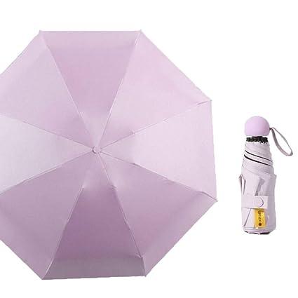 Amazon.com: Inesun - Mini paraguas de viaje, ligero ...