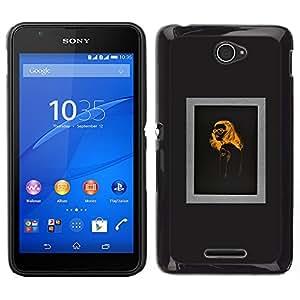 Stuss Case / Funda Carcasa protectora - Orange Noir Conception - Sony Xperia E4