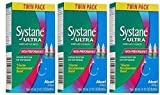 Systane Ultra Lubricant Eye Drops, AZJie 0.33 fl oz (10 ml) 3 -Twin Packs (6 Bottles Total)