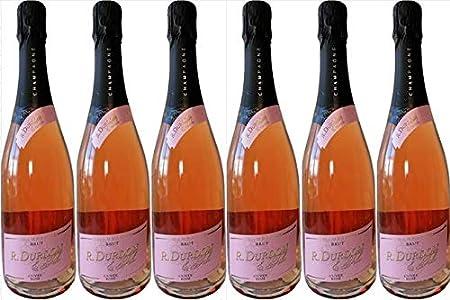 Champán bruto Durdon rosado, cosechadora - manipulación, 6 botellas de 75cl.