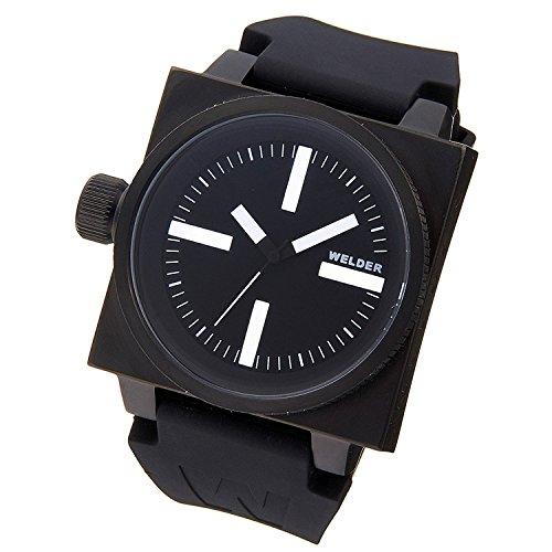 WELDER watch quartz black × black rubber K26-5100