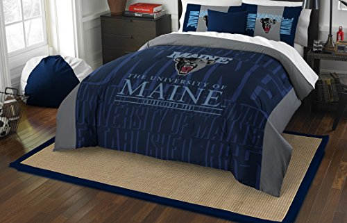 - The Northwest Company Officially Licensed NCAA Maine Black Bears Modern Take Full/Queen Comforter and 2 Sham Set