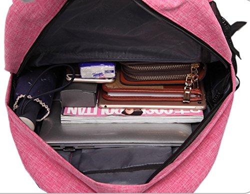 Keshi Leinwand Cool Damen accessories hohe Qualität Einfache Tasche Schultertasche Freizeitrucksack Tasche Rucksäcke Hellblau 127Dzg