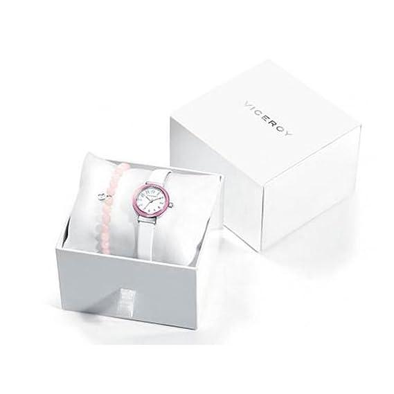 Conjunto Reloj Viceroy Niña Comunión 40876-05 Cristales Rosas con Cruz: Amazon.es: Relojes