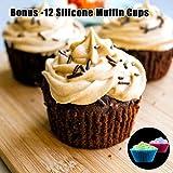 Silicone Muffin Pan Cupcake Set - Mini 24 Cups and