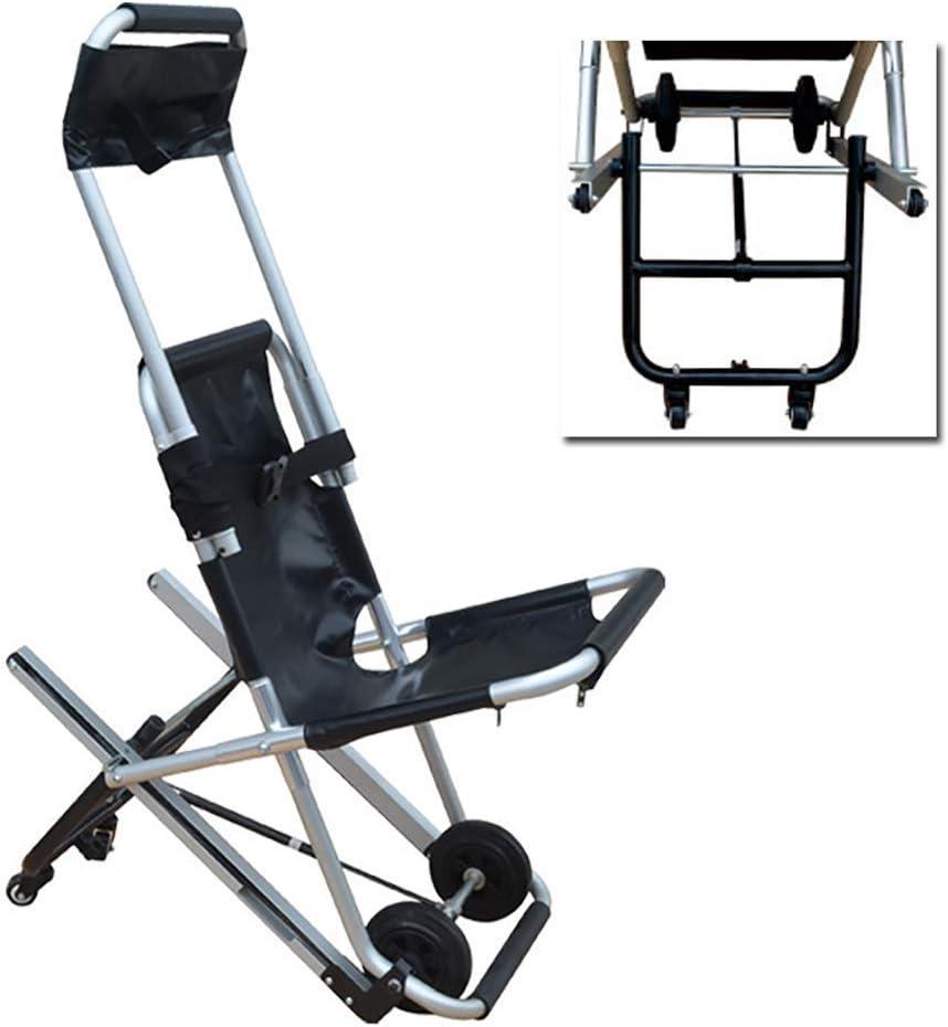 Silla de escalera Chenille, silla de ruedas elástica de escalera alta y baja, silla de transporte médico de evacuación de bomberos,Azul