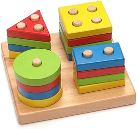 Legno geometrico Letter Pickter Blocchi Montessori Toy Kindergartners