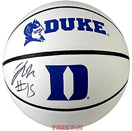 Image Unavailable. Image not available for. Color  Jahlil Okafor Signed  Autographed Duke Blue Devils White Logo Basketball ... da80952a6