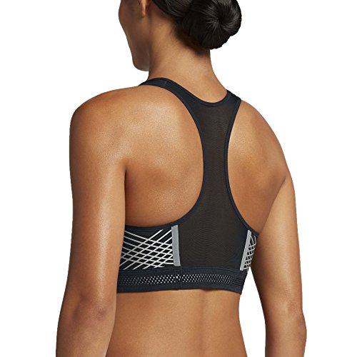 Nike Womens Pro Feroce Reggiseno Sportivo Da Allenamento Riflettente Nero