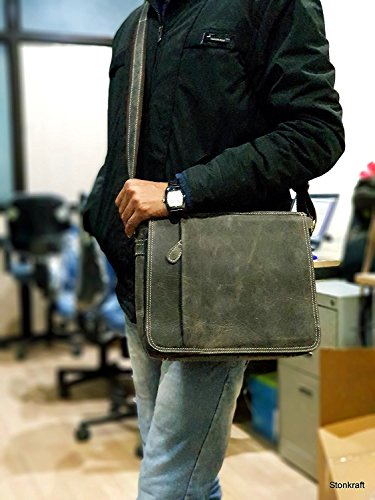 Gray Stonkraft Men For Bag 5 Gray Shoulder 10x12x3 TqqPfw4