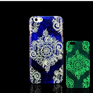 iPhone 7 Case, Glow in the Dark Aztec Flower Mandala Datura Stramonium Pattern TomCase Fluorescent Back Cover for iPhone 7 Case 4.7 inch, P15