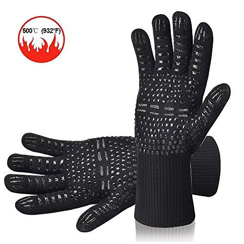 AOMEES Grillhandschuhe Rutschfeste BBQ Handschuhe 500°C/932°F