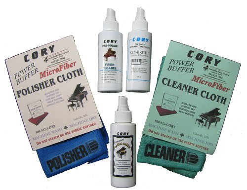 Complete Piano Finish Cleaning and Care Kit - For Satin Pianos