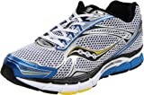 Saucony Men's Powergrid Triumph 9 Running Shoe,White/Royal/Yellow,9.5 M US