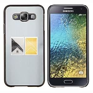 YiPhone /// Prima de resorte delgada de la cubierta del caso de Shell Armor - Casa Ventana profundo minimalista - Samsung Galaxy E5 E500