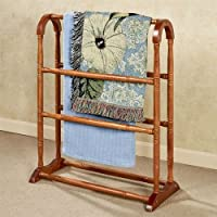 Touch of Class Ayden Solid Wood Blanket Rack Windsor Oak