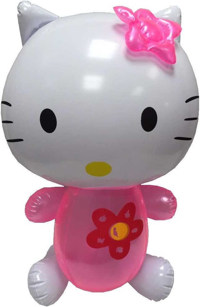 babygiraffe Kids Children Girl Inflatable Toy Blow Up Hello Kitty with Whistle Party Fun 40cm x 25cm S