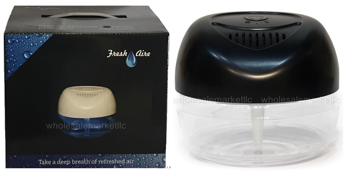 3 New Fresh Aire Machines. Includes a bottle Rainbow Rainmate Eucalyptus Fragrance. Has 6 LED Color Changing Lights