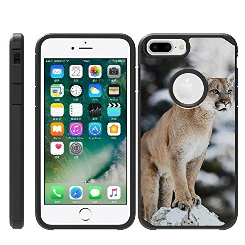 TurtleArmor   Compatible for Apple iPhone 6 Plus Case   iPhone 6s Plus Case   Fitted Hybrid Shell Shockproof TPU Case Animal Design - Mountain ()